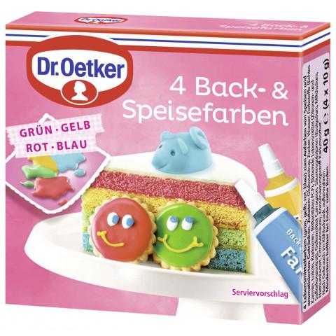 Dr.Oetker Back- & Speisefarben 40G
