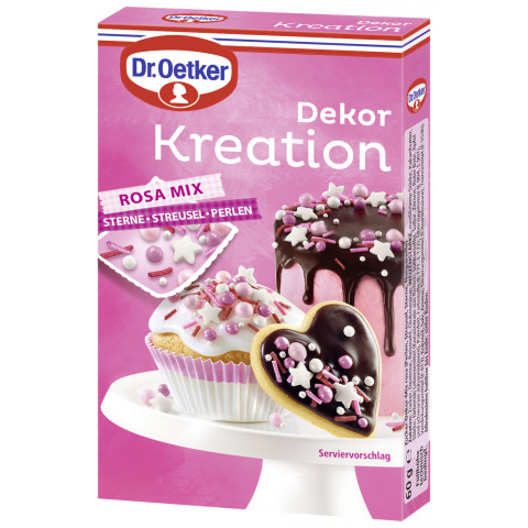 Dr.Oetker Dekor Kreation Rosa Mix 60G