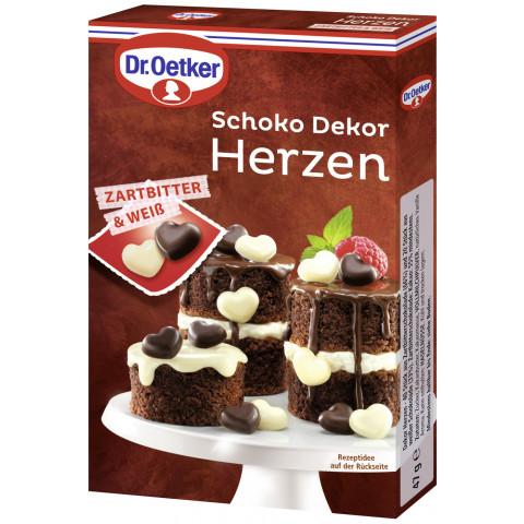 Dr.Oetker Dekorherzen Schoko 47G