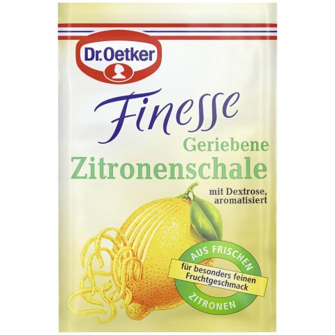 Dr.Oetker Finesse Geriebene Zitronenschale 3x6G