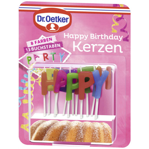 Dr.Oetker Happy Birthday Kerzen