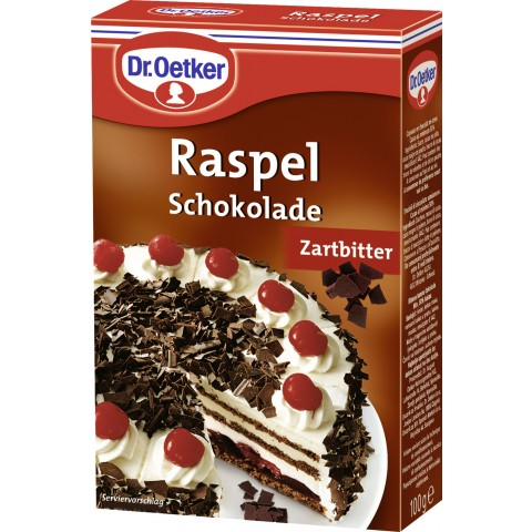Dr.Oetker Raspel Schokolade zartbitter 100 g