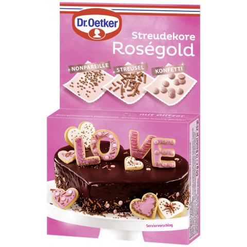 Dr.Oetker Streudekore Roségold 3x 20 g