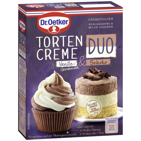 Dr.Oetker Tortencreme Duo Vanille & Schoko 105 g