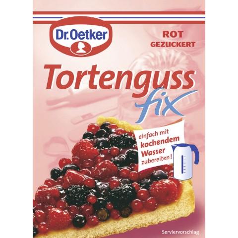 Dr.Oetker Tortenguss fix rot gezuckert