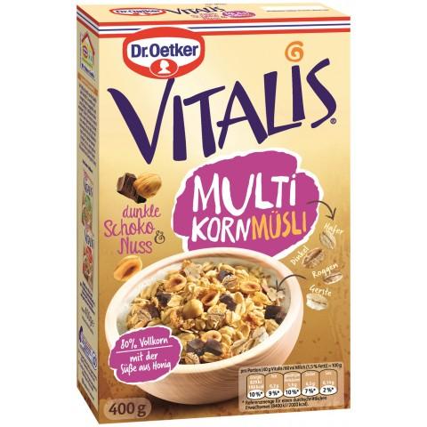 Dr.Oetker Vitalis Multikorn Müsli dunkle Schoko & Nuss 400 g