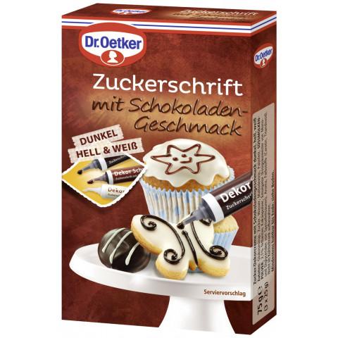 Dr.Oetker Zuckerschrift mit Schokoladengeschmack 75G