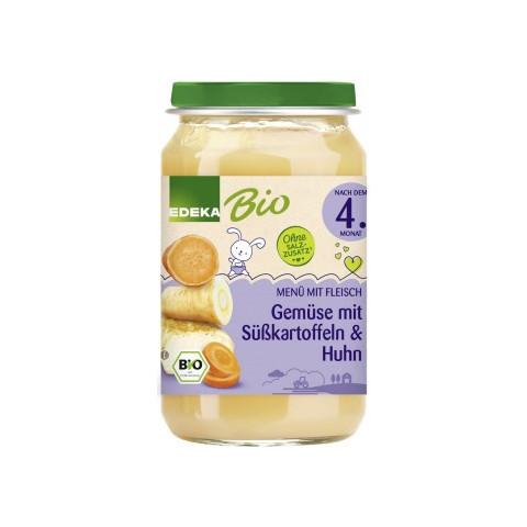 EDEKA Bio Gemüse mit Sükartoffeln & Huhn nach dem 4.Monat 190G