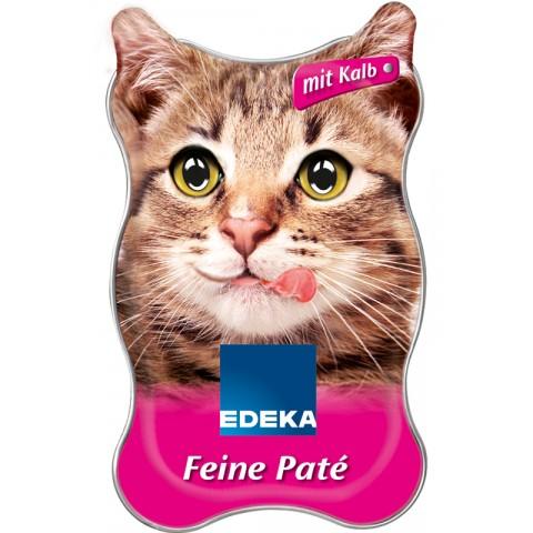 EDEKA Feine Paté mit Kalb Katzenfutter nass 85 g
