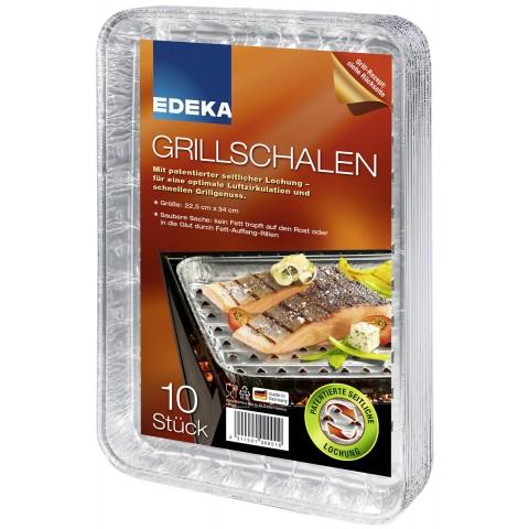 EDEKA Alu-Grillschalen 10 Stück