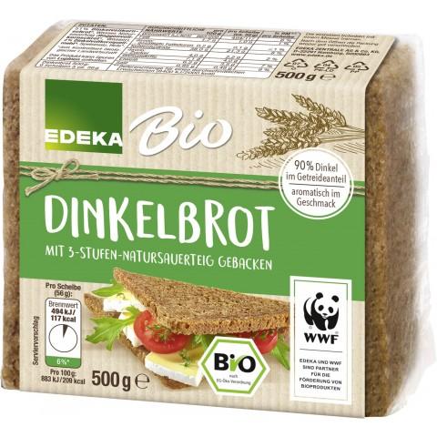 EDEKA Bio Dinkelbrot geschnitten 500 g