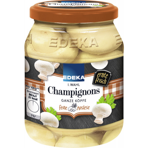 EDEKA Champignons 1. Wahl ganze Köpfe 330G