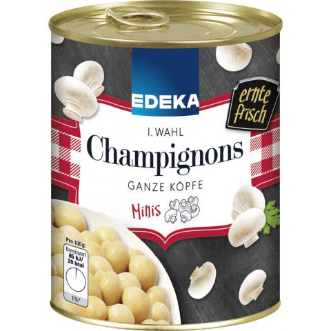 EDEKA Champignons Mini 1. Wahl ganze Köpfe 800G
