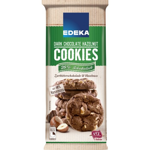 EDEKA Dark Chocolate & Hazelnut Cookies 200 g