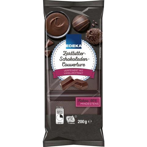 EDEKA Zartbitter-Schokoladen-Couverture 200 g