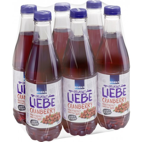 EDEKA Cranberry-Nektar PET 6x 1 ltr