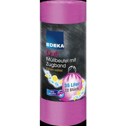 EDEKA Duft Müllbeutel mit Zugband 35L