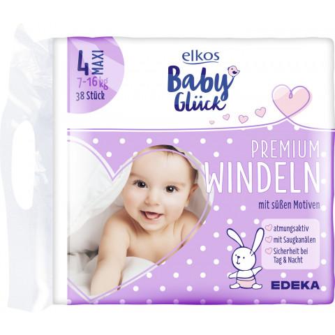 elkos Babyglück Windeln Größe 4 Maxi 7-16 kg 38 Stück