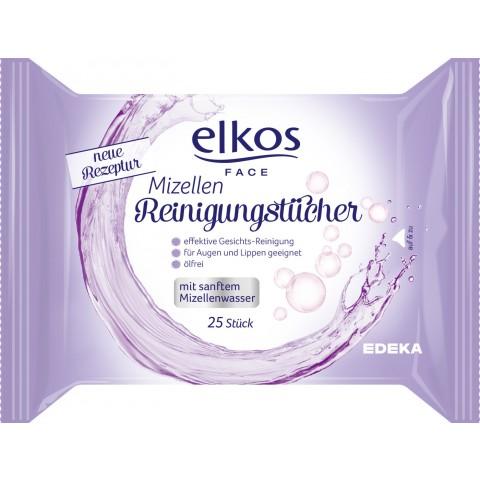 Elkos Face Mizellen Gesichtsreinigungstücher 25 Stück