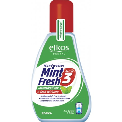 elkos Mint Fresh Active 3 Mundwasser 125 ml