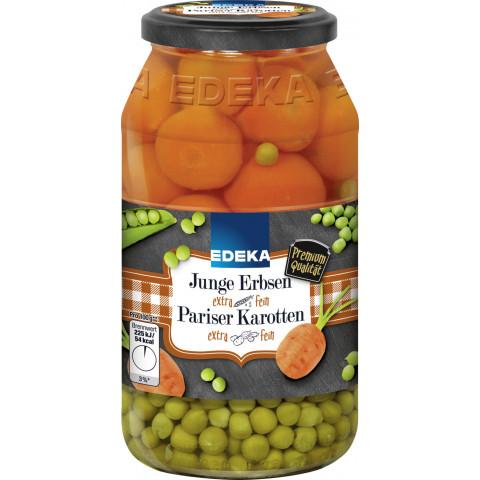 EDEKA Junge Erbsen mit Pariser Karotten extra fein 660G