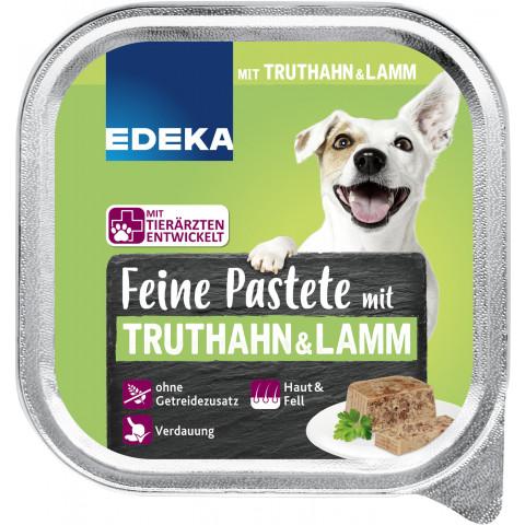 EDEKA Feine Pastete mit Truthahn & Lamm Hundefutter nass 150G
