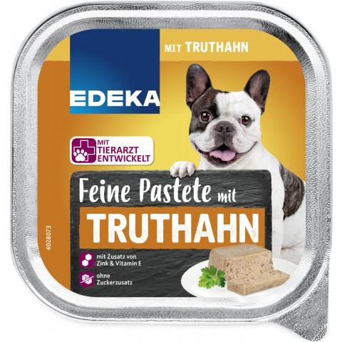 EDEKA Feine Pastete mit Truthahn Hundefutter nass 300G