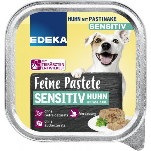 EDEKA Feine Pastete Sensitive Huhn& Pastinake Hundefutter nass 150G
