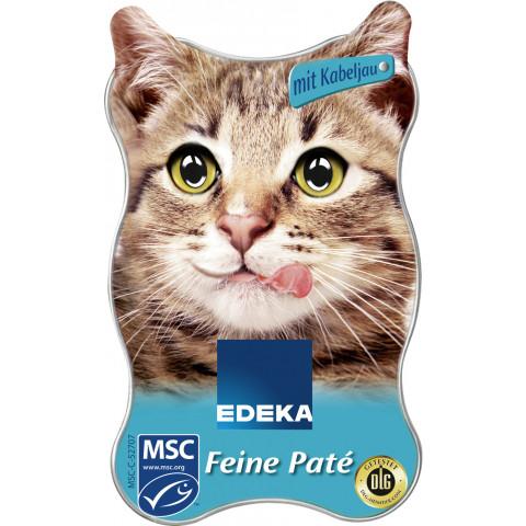 EDEKA Feine Paté mit Kabeljau Katzenfutter nass 85 g