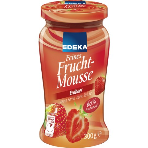 EDEKA Feines Fruchtmousse Erdbeer 300 g
