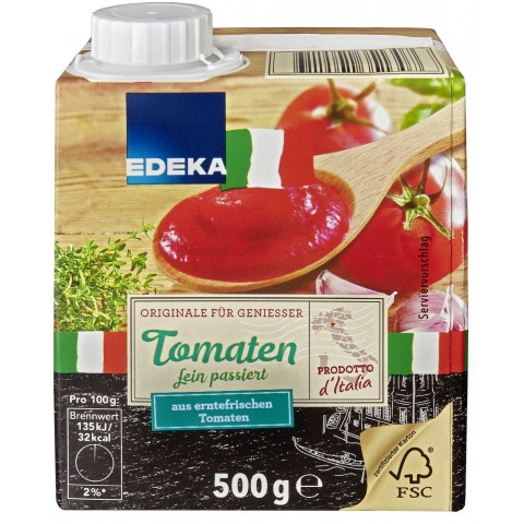 EDEKA Italia Tomaten passiert