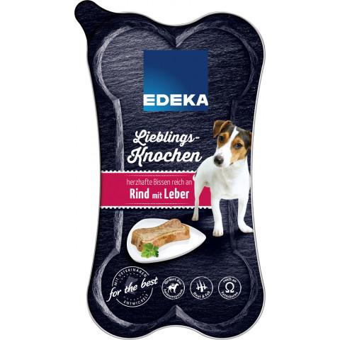 EDEKA Lieblingsknochen Rind mit Leber Hundefutter nass 175G