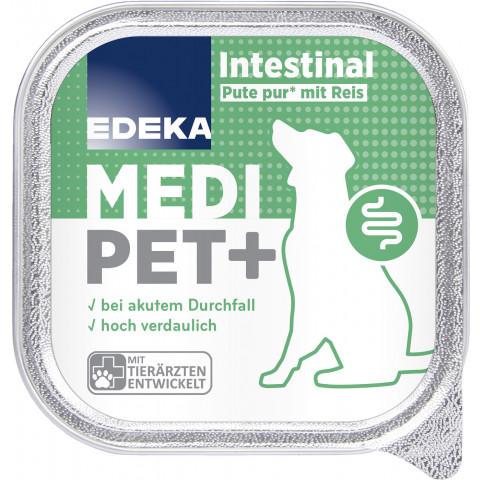 EDEKA Medi Pet+ Hund Intestinal Pute pur mit Reis Hundefutter nass 150G