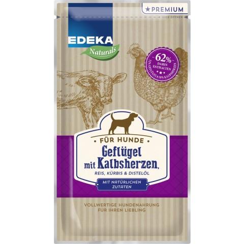 EDEKA Naturals Geflügel mit Kalbsherzen 125 g