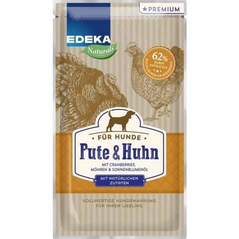 EDEKA Naturals Pute & Huhn Nassfutter für Hunde
