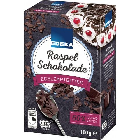EDEKA Raspel Schokolade edelzartbitter 100 g