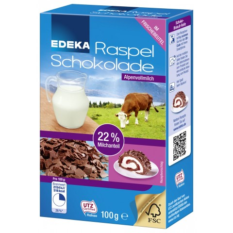 EDEKA Raspel Schokolade Vollmilch