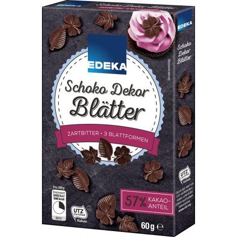 EDEKA Schoko Dekor Blätter Zartbitter 60G