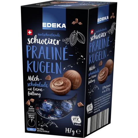 Edeka Schweizer Praline-Kugeln Milch-Schokolade 147 g