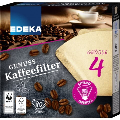 EDEKA Unsere besten Kaffeefilter Größe 4