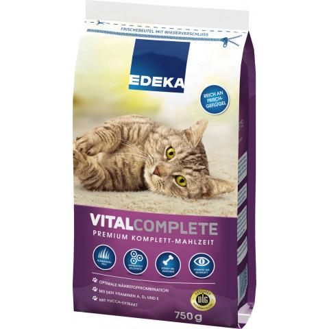 EDEKA Vitacomplete Premium Komplett-Mahlzeit Katzenfutter trocken 0,75 kg