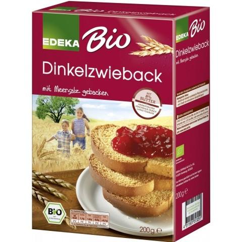 EDEKA Bio Dinkelzwieback mit Meersalz 200 g