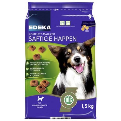 EDEKA Komplett-Mahlzeit Saftige Happen Hundefutter 1,5 kg