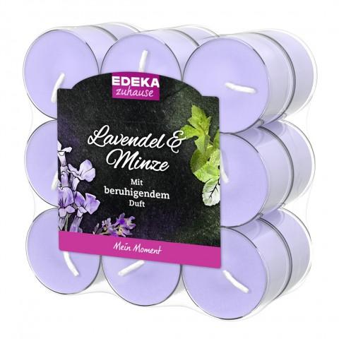 EDEKA zuhause Duftlichte Lavendel & Minze 18 Stück