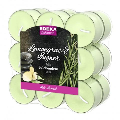 EDEKA zuhause Duftlichte Lemongras & Ingwer 18 Stück