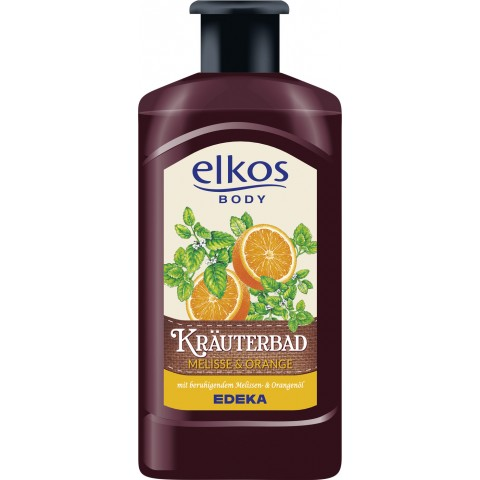elkos Body Kräuterbad Melisse & Orange 0,5 ltr