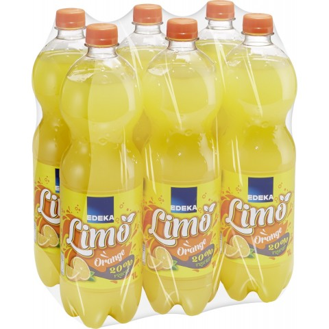 EDEKA Limonade Orange 6x 1 ltr PET