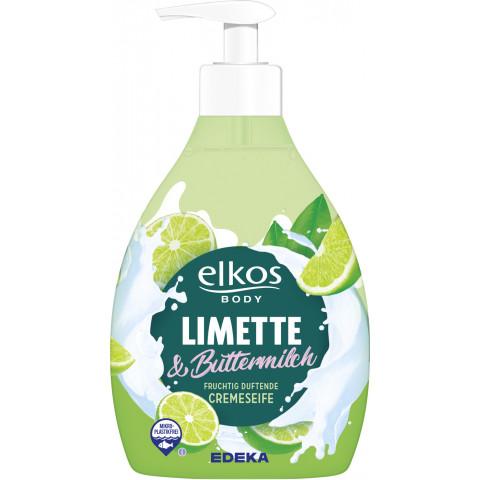 elkos body Cremeseife Limette & Buttermilch 500ML