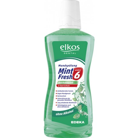 elkos DENTAL Mundspülung Mint Fresh Antibakteriell 500 ml