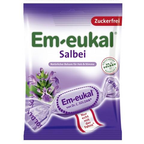 Em-Eukal Salbei Hustenbonbons Zuckerfrei 75 g
